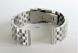20mm-Stainless-Steel-wristband-watch-bracelet-Brushed-Silver-SUPER-Engineer-II