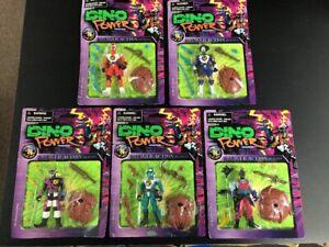 Lot X De 5 Dino Power Ninjatron Figurines Figurines De Jeux Nouveau Diffrenent Vintage