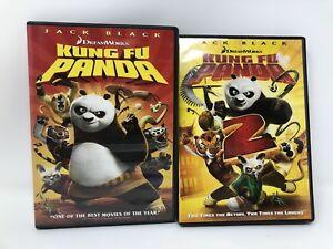 Kung Fu Panda Dvd 2008 Full Frame King Fu Panda 2 Widescreen Both Movies 97361392646 Ebay