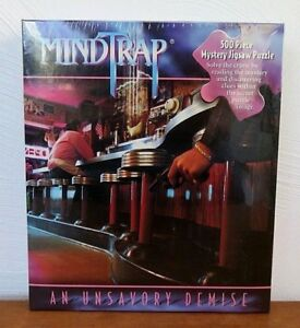 1997-Pressman-MindTrap-500-Piece-Mystery-Jigsaw-Puzzle-An-Unsavory-Demise-NOS