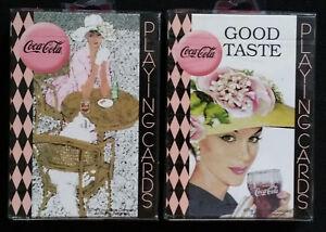 2 DECKS Set Coca Cola Ladies Vintage Style Playing Cards by Bicycle New & Sealed