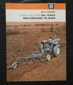 "1963 ""OLIVER No. 4340 3 & 4 BOTTOM MOLDBOARD PLOWS"" SALES CATALOG BROCHURE NICE"