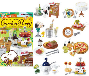 Re-ment-SNOOPY-039-s-Garden-Party-BOX-Full-set-8-packs-Japan