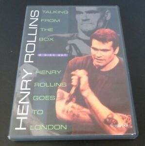 HENRY ROLLINS 'Talking from the box / Henry Rollins goes to London' 2 disc DVD