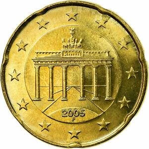 [#722529] République fédérale allemande, 20 Euro Cent, 2005, SUP, Laiton, KM:211
