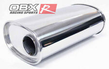 "OBX KV2013 Universal Oval Muffler Resonator Type KV 2.5"" 2 1/2"" w/o Neck"