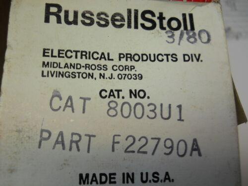 RUSSELLSTOLL 8003U1 EVERLOK RECEPTACLE 125VAC 20A NEW