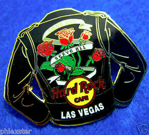 Las-Vegas-Moto-MOTORISTA-Chaqueta-Cuero-Serie-Rojo-Rosas-Hard-Rock-Cafe-Le