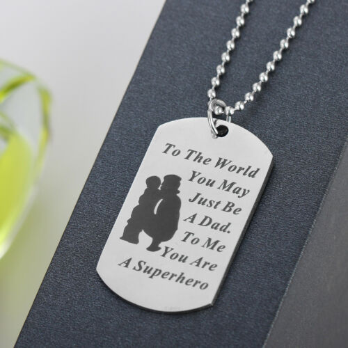 Stainless Steel Boyfriend Husband Lover Gift Women Men Necklace Pendant Dog Tag
