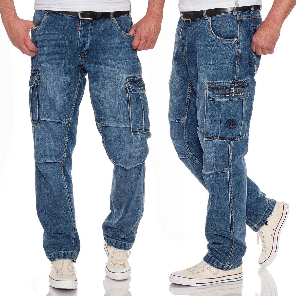 Caballeros UNCs Cochego jeans denim Cochego  Pants bolsillos laterales Biker jeans workerjeans  tienda