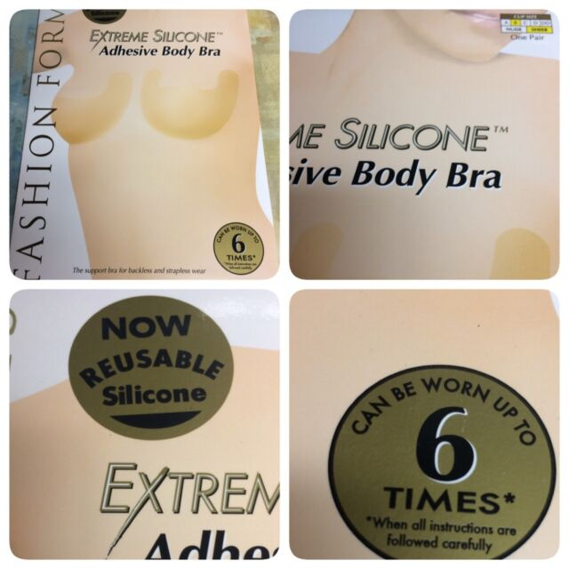 4222f10153 Fashion Forms Adhesive Body Bra B Cup Backless Strapless Support
