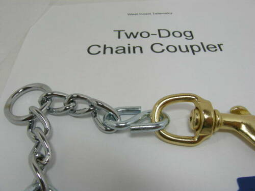 hound supplies Double Chain Coupler supply hunting dogs puppies gps tracking
