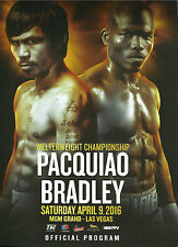 2016 MANNY PACQUIAO vs TIMOTHY BRADLEY JR. [III] PROGRAMME