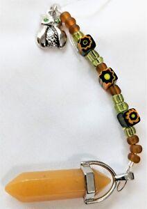 Yellow-Quartz-and-Owl-Spirit-Pendulum-Reiki-blessed-hand-crafted