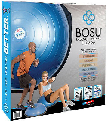 BOSU Ball Home Balance Trainer With 6 DVD Fitness Workout Video NEW EBay