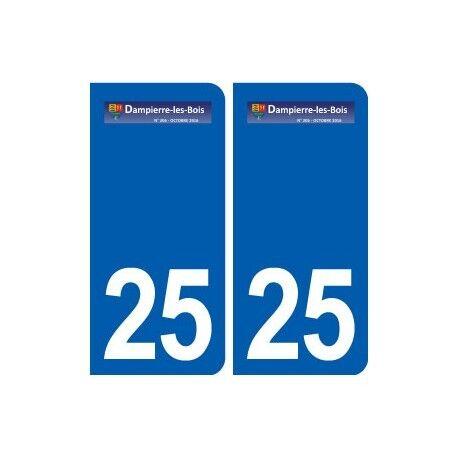 25 Dampierre-les-Bois logo autocollant plaque stickers arrondis