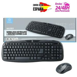 PACK-TECLADO-Y-RATON-INALAMBRICO-PARA-MAC-PC-WINDOWS-WIRELESS-10m-2-4GHz-CON-N