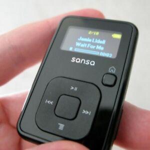 SanDisk-Sansa-Clip-Black-8GB-Digital-Media-Player-excellent-condition