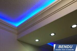 Details zu 20m LED Stuckleisten indirekte Beleuchtung Decke Lichtvoute  Schlafzimmer Leisten