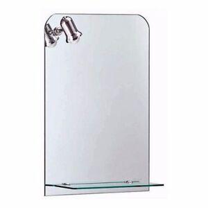 badspiegel bad wc spiegel mit ablage beleuchtet licht beleuchtung wandspiegel ebay. Black Bedroom Furniture Sets. Home Design Ideas