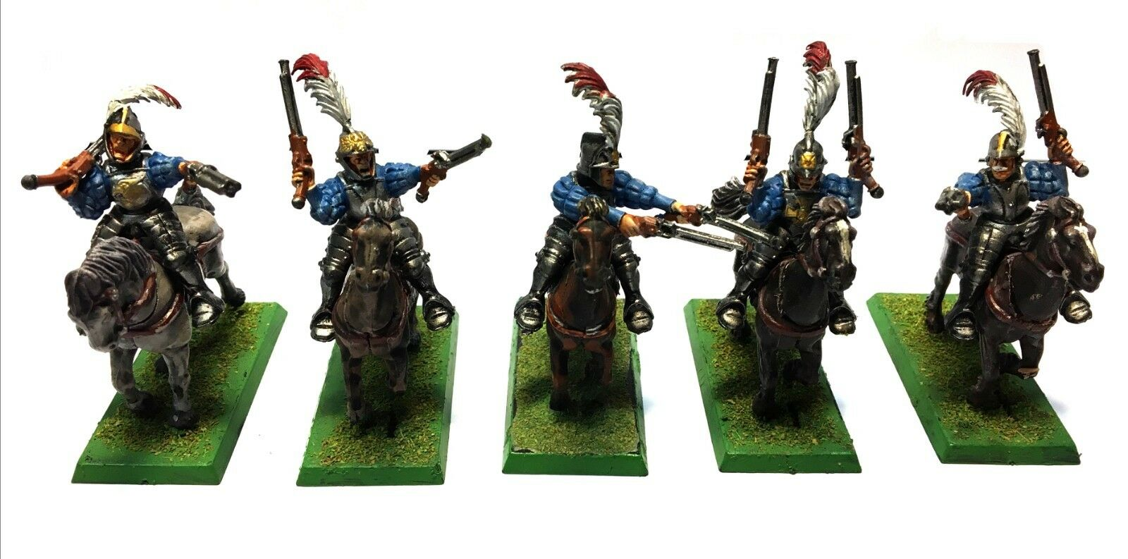 Warhammer Fantasy - Empire Pistoliers Outriders - (Painted) - 28mm