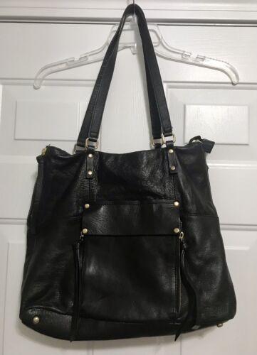 Kooba Genuine Leather Tote Bag Purse Black