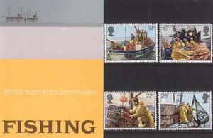 GB-1981-FISHING-PRESENTATION-PACK-129-SG-1166-1169-MINT-STAMP-SET-129