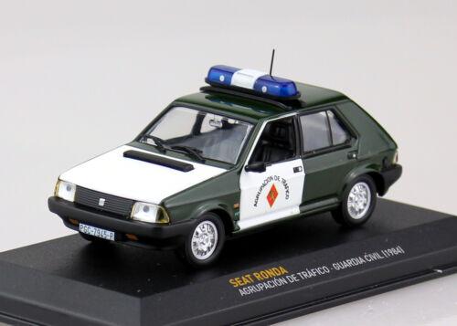 Cast Seat Ronda policía españa 1984 1:43 Ixo//Altaya maqueta de coche la//