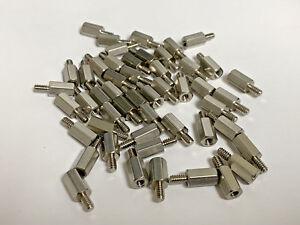 """10 Stainless Steel 6-32 x 9//16/"""" M//FM 1//4/"""" Hex Standoffs"""