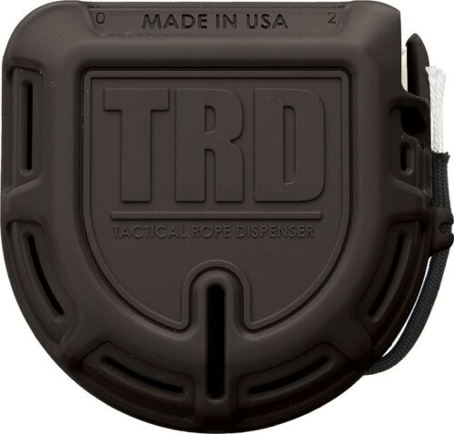 Black Tactical Rope Dispenser with 50 FT x 550 LB ARMTRDBLK Made in USA
