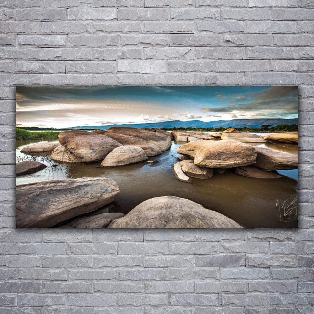 Photo sur toile Tableau Image Impression 120x60 Paysage Roche