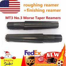 Mt3 No3 Straight Shank Morse Taper Roughing Finishing Reamer Diameter 23825mm
