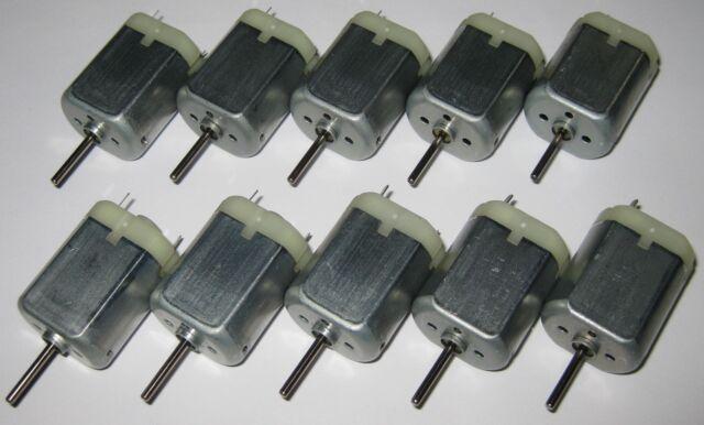 10 X 280 Mabuchi DC Motor / Mini Generator - 12 VDC - Generate 1 V per 800 RPM