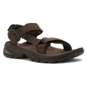 e944d7930f437 Teva Men s Terra Fi 4 Leather Strap Walking Sandals Turkish Coffee ...
