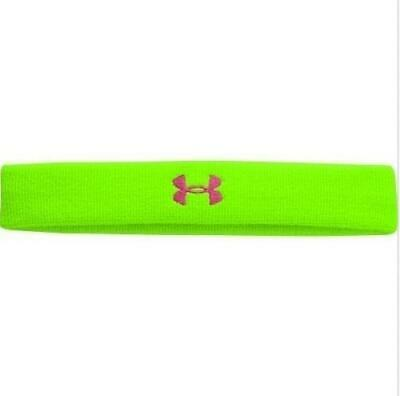 "Under Armour Women/'s 1/"" Terry Non Slip Headband Blue Coral 1250692 FAST SHIP B47"