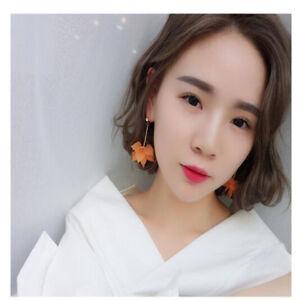 Womens-Ladies-Fashion-Jewelry-Hypoallergenic-Flower-Long-Alloy-Earrings-Studs-h2