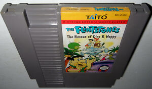 Nintendo-NES-Game-THE-FLINTSTONES-RESCUE-DINO-amp-HOPPY-Cleaned-amp-Tested-Super-Fun