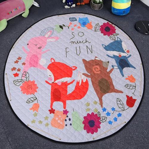 Folding Kids Baby Toy Play Mat Cute Animal Floor Carpet Non Slip Rug 60 Inch