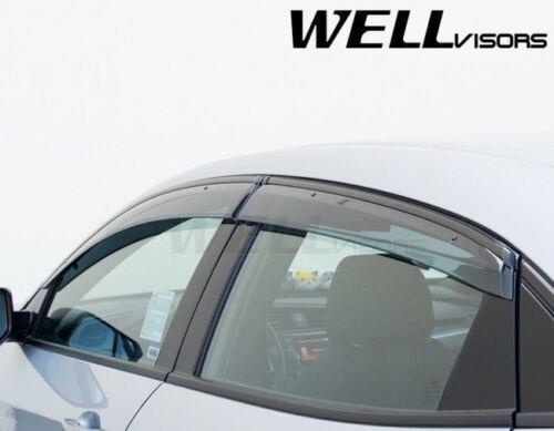 WellVisors For 17-Up Honda Civic Hatchback BLACK TRIM Side Vents Window Visors