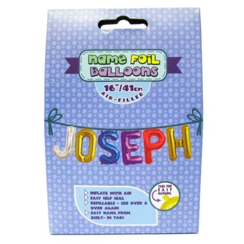 Royal County Products Name Foil Balloons Joseph New