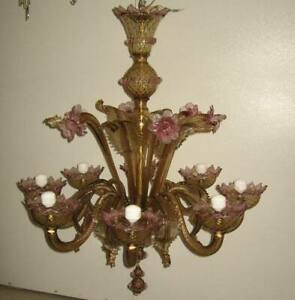 Lampadari In Vetro Soffiato.Lampadario In Vetro Soffiato Di Murano Vintage Ebay