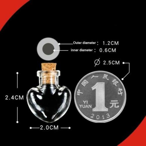 1PC Wishing Bottle Clear Message Bottle with Cork Stopper Mini Glass Jars DIY