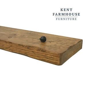 Rustic Shelf Solid Wood Floating Wall Shelves Mantle
