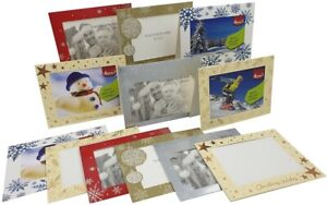 6-x-Christmas-Photo-Frame-Cards-amp-Envelopes-Personalised-any-Family-Picture
