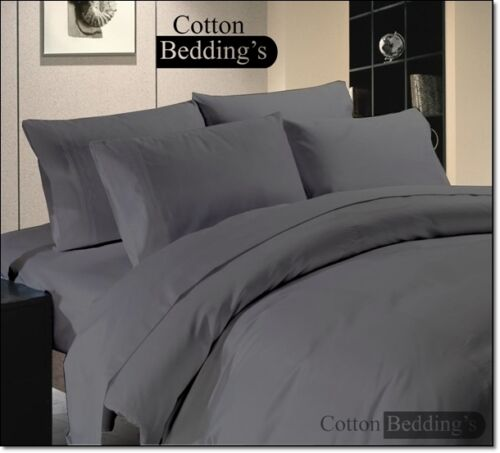 800 1000 1200 Thread Count 100/% Egyptian Cotton US Size Grey Color Bedding Set