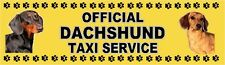 DACHSHUND OFFICIAL TAXI SERVICE (Smooth Haired) Dog Car Sticker  By Starprint