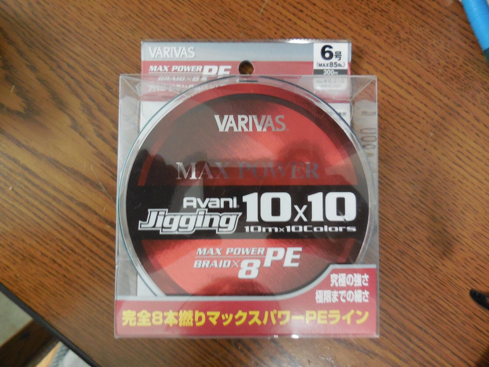 Varivas Avani Jigging 10 6 X 10 Max Power 6 10 38.5kg 300m 8 Biese d5e0eb