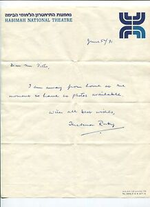 Thelma-Ruby-Jewish-Actress-Habihah-National-Theatre-Signed-Autograph-ALS