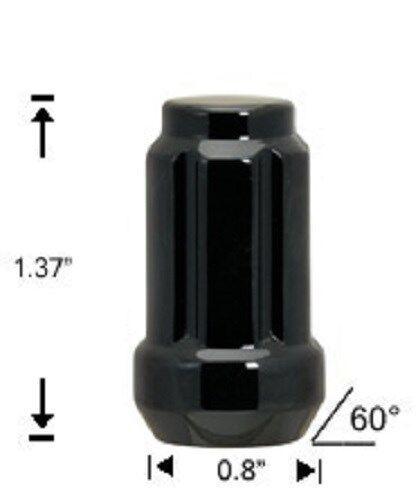 20 Pc JEEP WRANGLER BLACK SPLINE LUG NUTS 1//2-20 With KEY # AP-5650BK