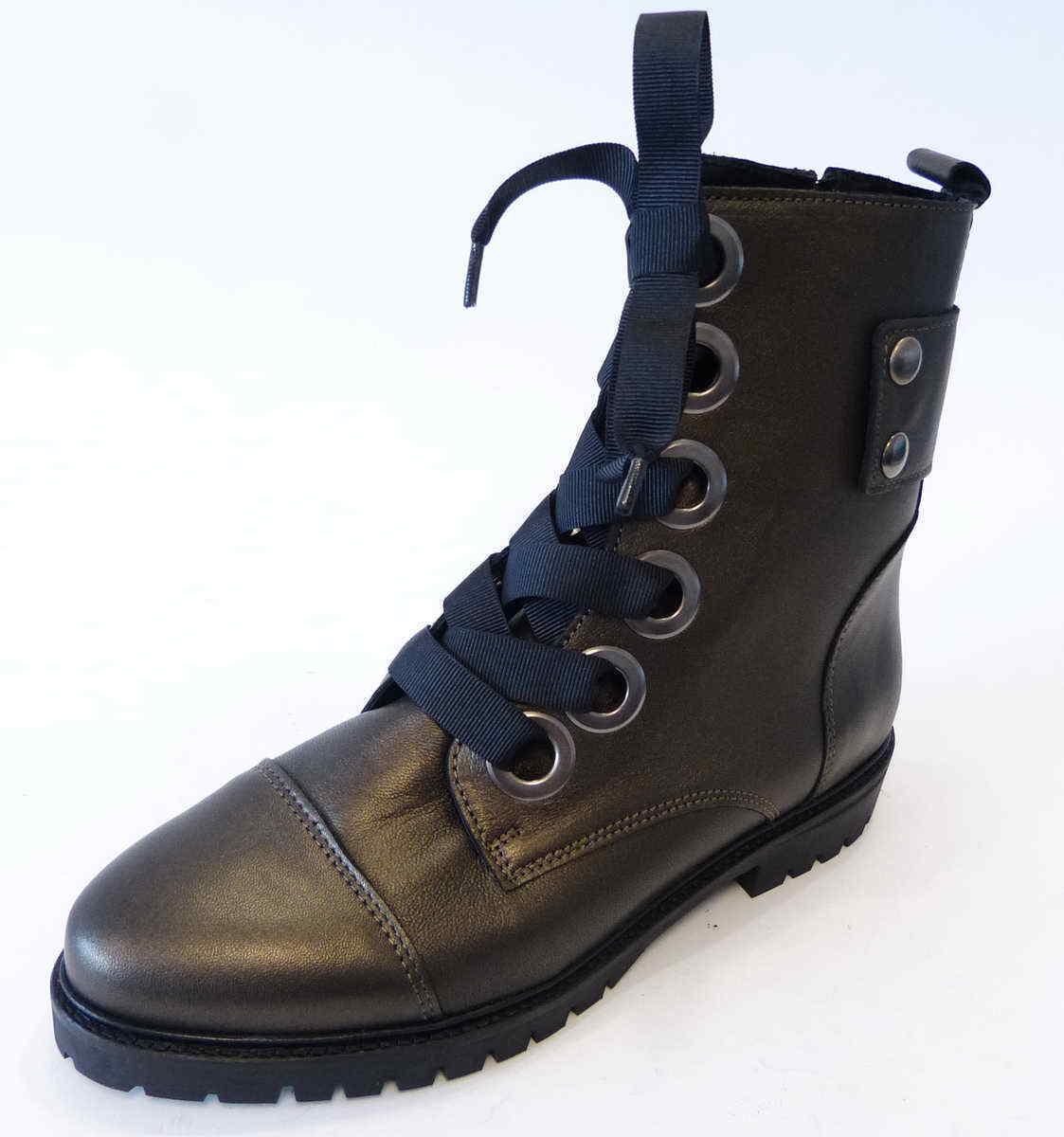 Tango bota Bee metalizado bronce cuero diseñada con cordones botas 77a 91